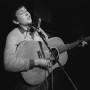 Dylan singing at Gerde's Folk City. Greenwich Village. 1961.